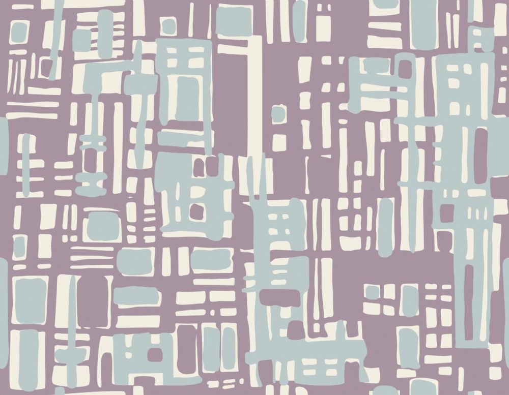 Hemingway Designs Light Blue on Purple Texture Fabric - per quarter metre